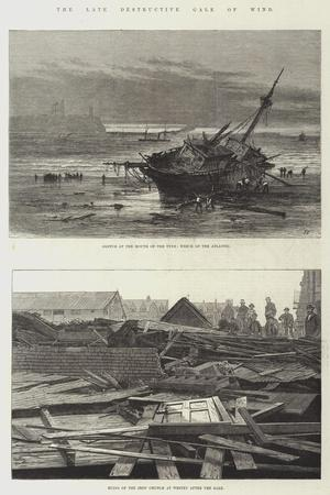 The Late Destructive Gale of Wind-Sir John Gilbert-Giclee Print