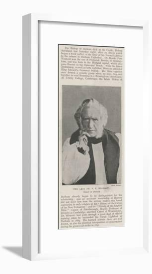 The Late Dr B F Westcott, Bishop of Durham--Framed Giclee Print