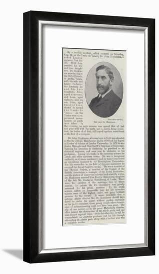 The Late Dr Hopkinson--Framed Giclee Print