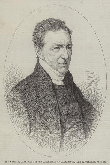 The Late Dr John Bird Sumner, Archbishop of Canterbury--Giclee Print