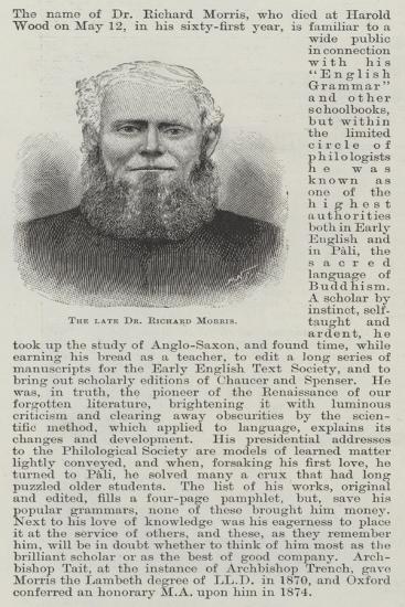 The Late Dr Richard Morris--Giclee Print