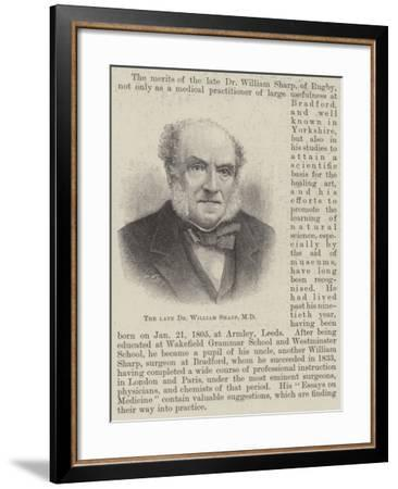 The Late Dr Willliam Sharp--Framed Giclee Print