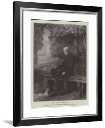 The Late Duc D'Aumale--Framed Giclee Print