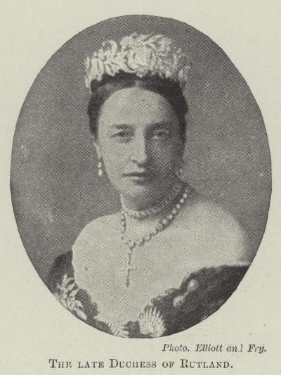 The Late Duchess of Rutland--Giclee Print