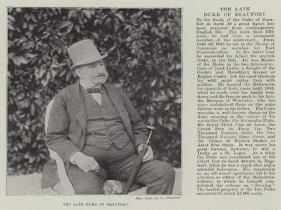 The Late Duke of Beaufort--Giclee Print