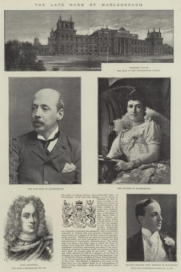 The Late Duke of Marlborough--Giclee Print