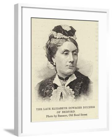 The Late Elizabeth Dowager Duchess of Bedford--Framed Giclee Print