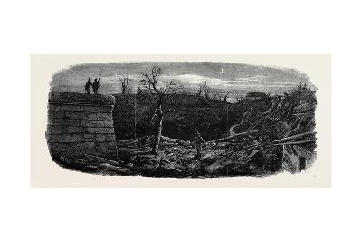 The Late Explosion at Mayence: Site of the Powder Magazine Mayence--Giclee Print