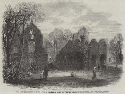 The Late Fire at Campden House, View of the Garden Front, Showing the Remains of the Theatre-Edmund Morison Wimperis-Giclee Print