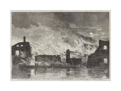 The Late Fire at the Camden-Town Goods Station of the London and North-Western Railway--Giclee Print