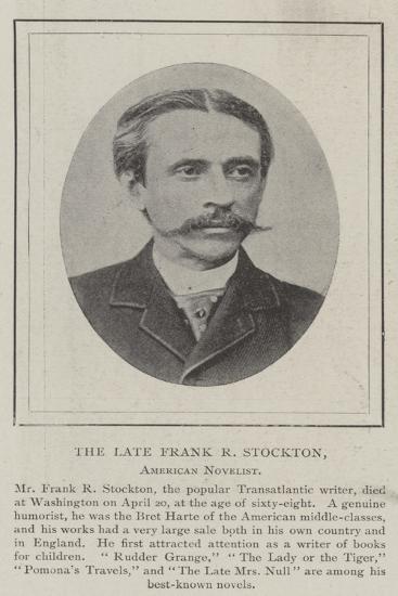The Late Frank R Stockton, American Novelist--Giclee Print