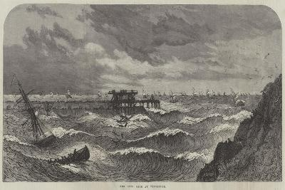 The Late Gale at Tynemouth--Giclee Print