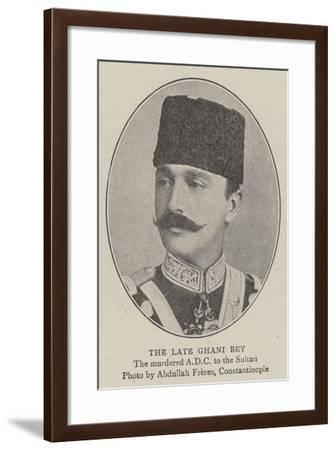 The Late Ghani Bey--Framed Giclee Print
