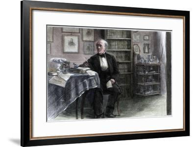 The Late Hans Christian Andersen in His Study, C1850-1875-Hans Christian Andersen-Framed Giclee Print