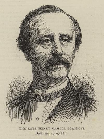 The Late Henry Gamble Blagrove--Giclee Print