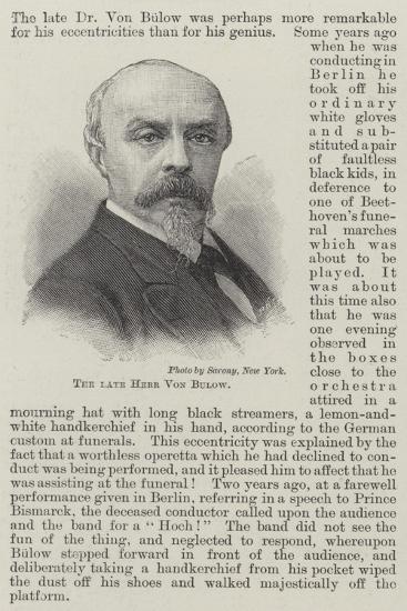 The Late Herr Von Bulow--Giclee Print