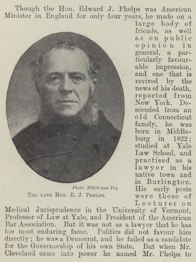 The Late Honourable E J Phelps--Giclee Print