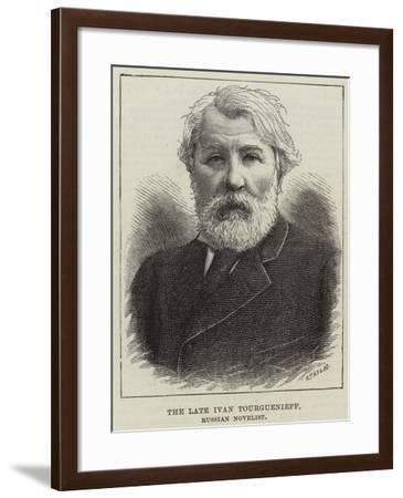 The Late Ivan Tourguenieff, Russian Novelist--Framed Giclee Print