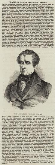The Late James Fenimore Cooper--Giclee Print