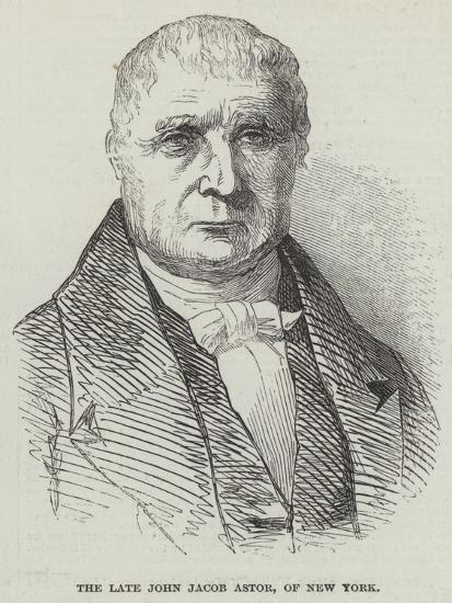 The Late John Jacob Astor, of New York--Giclee Print