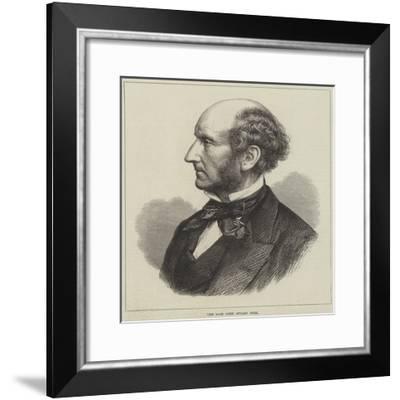 The Late John Stuart Mill--Framed Giclee Print