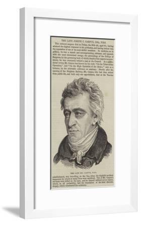 The Late Joseph C Carpue--Framed Giclee Print