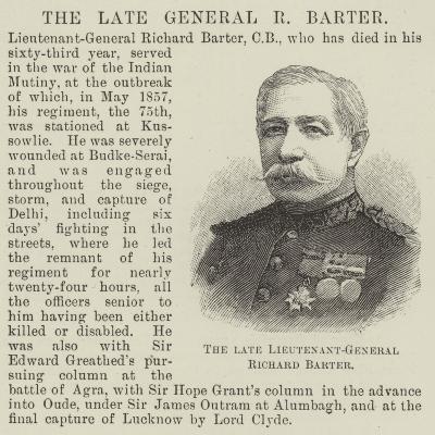 The Late Lieutenant-General Richard Barter--Giclee Print
