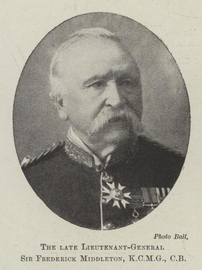 The Late Lieutenant-General Sir Frederick Middleton, Cb--Giclee Print