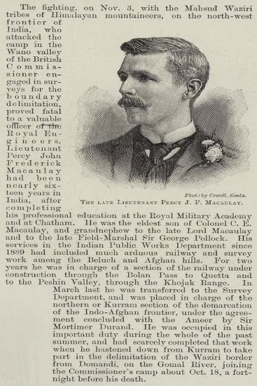 The Late Lieutenant Percy J F Macaulay--Giclee Print