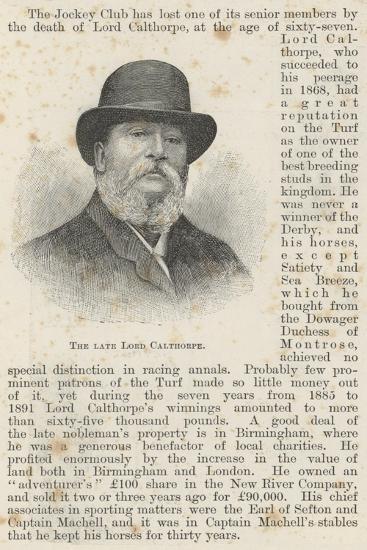 The Late Lord Calthorpe--Giclee Print