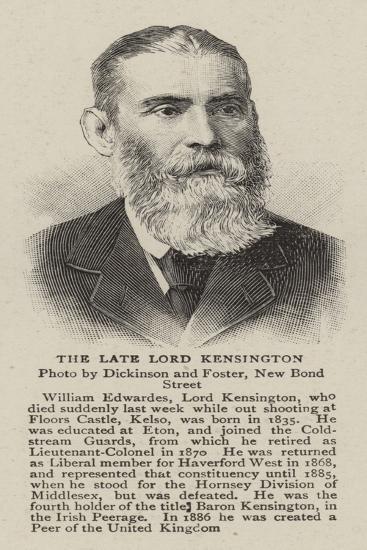 The Late Lord Kensington--Giclee Print