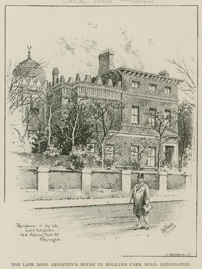 The Late Lord Leighton's House in Holland Park Road, Kensington, London--Giclee Print