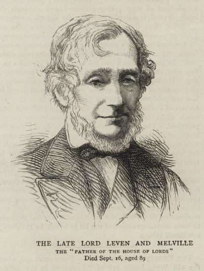 The Late Lord Leven and Melville--Giclee Print