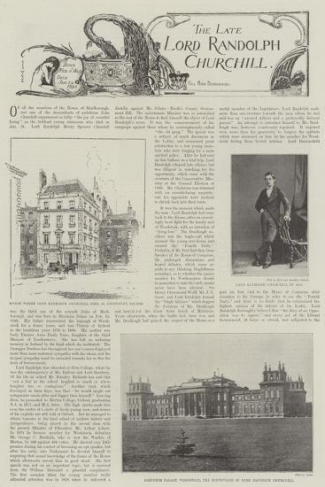 The Late Lord Randolph Churchill--Giclee Print