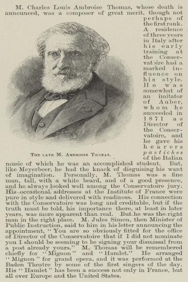 The Late M Ambroise Thomas--Giclee Print