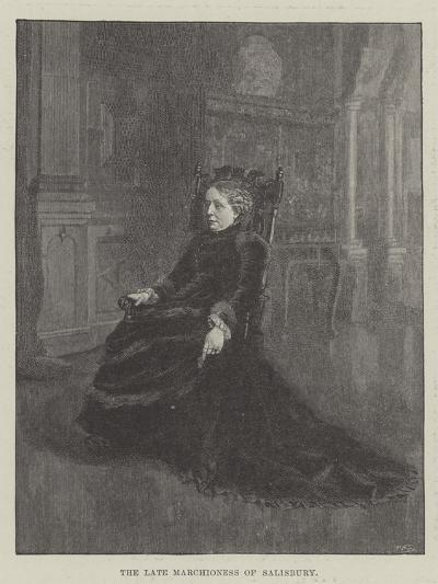 The Late Marchioness of Salisbury--Giclee Print