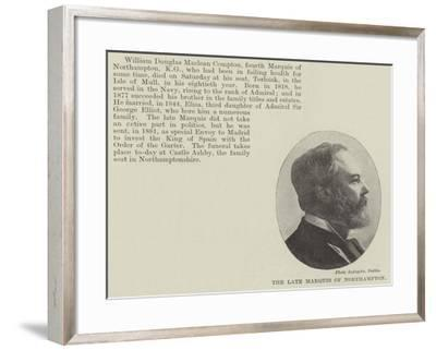 The Late Marquis of Northampton--Framed Giclee Print