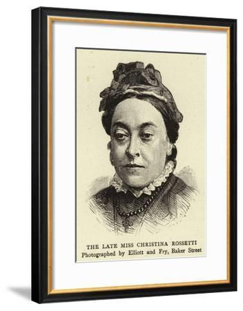 The Late Miss Christina Rossetti--Framed Giclee Print