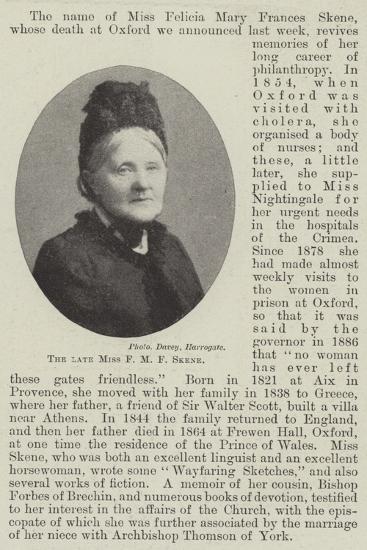 The Late Miss F M F Skene--Giclee Print