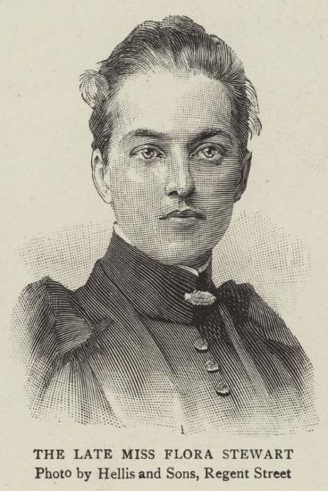 The Late Miss Flora Stewart--Giclee Print