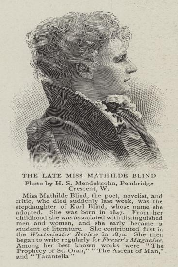 The Late Miss Mathilde Blind--Giclee Print