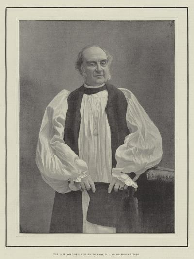 The Late Most Reverend William Thomson, Archbishop of York--Giclee Print