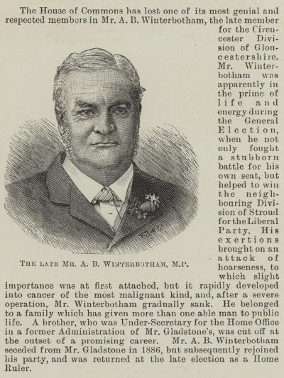 The Late Mr a B Winterbotham--Giclee Print
