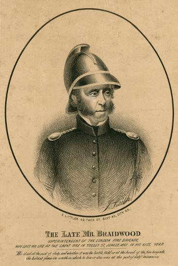 The Late Mr Braidwood, Superintendent of the London Fire Brigade--Giclee Print