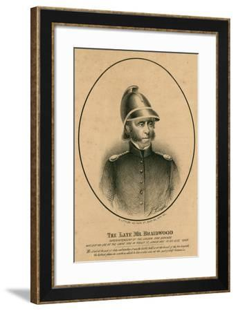 The Late Mr Braidwood, Superintendent of the London Fire Brigade--Framed Giclee Print