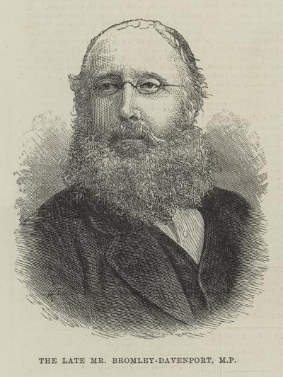 The Late Mr Bromley-Davenport--Giclee Print