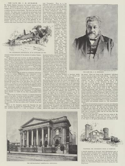 The Late Mr C H Spurgeon-Herbert Railton-Giclee Print