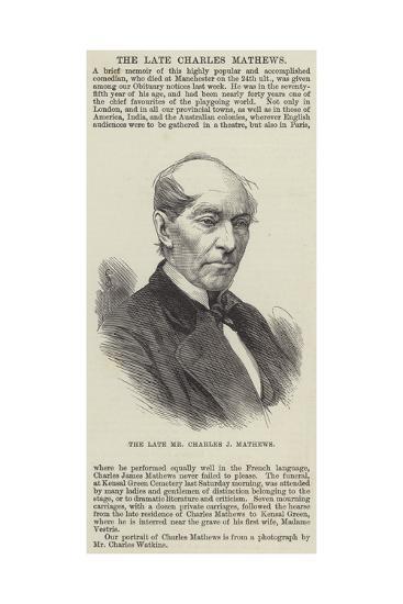 The Late Mr Charles J Mathews--Giclee Print