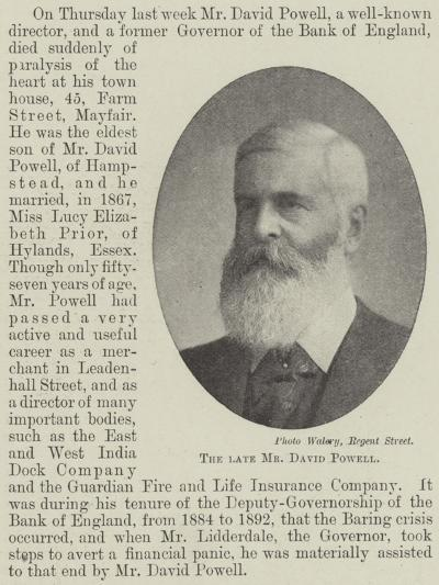 The Late Mr David Powell--Giclee Print