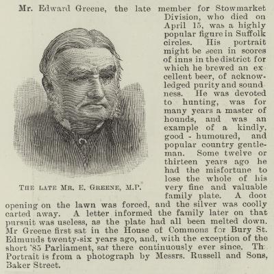 The Late Mr E Greene--Giclee Print